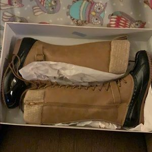 Women's Just Fab boots.  Brand new